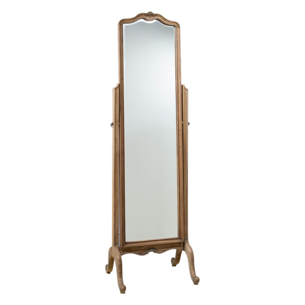 Floor standing mirror chic cheval mirror chalk select for Cheval mirror