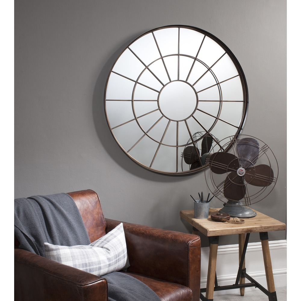 Window mirror battersea industrial mirror select mirrors for Window wall mirror
