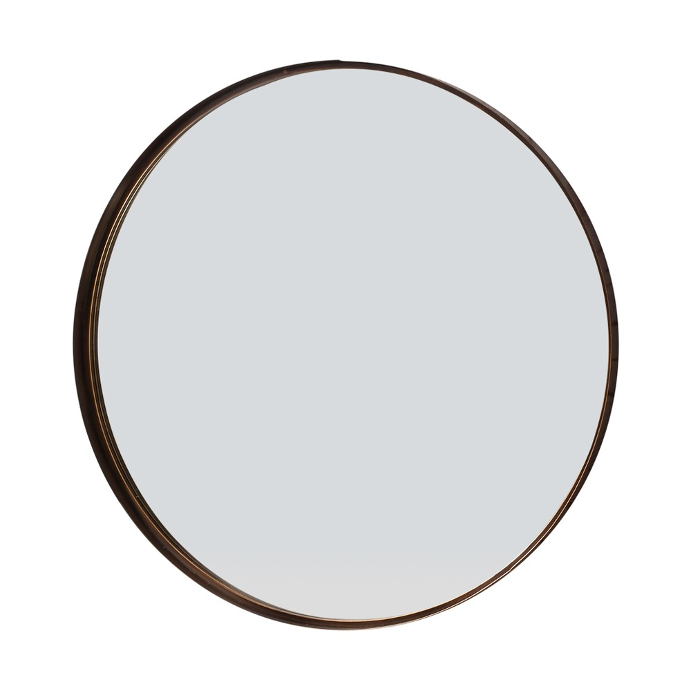 Round mirror greystoke bronze metal mirror select mirrors for Round mirror