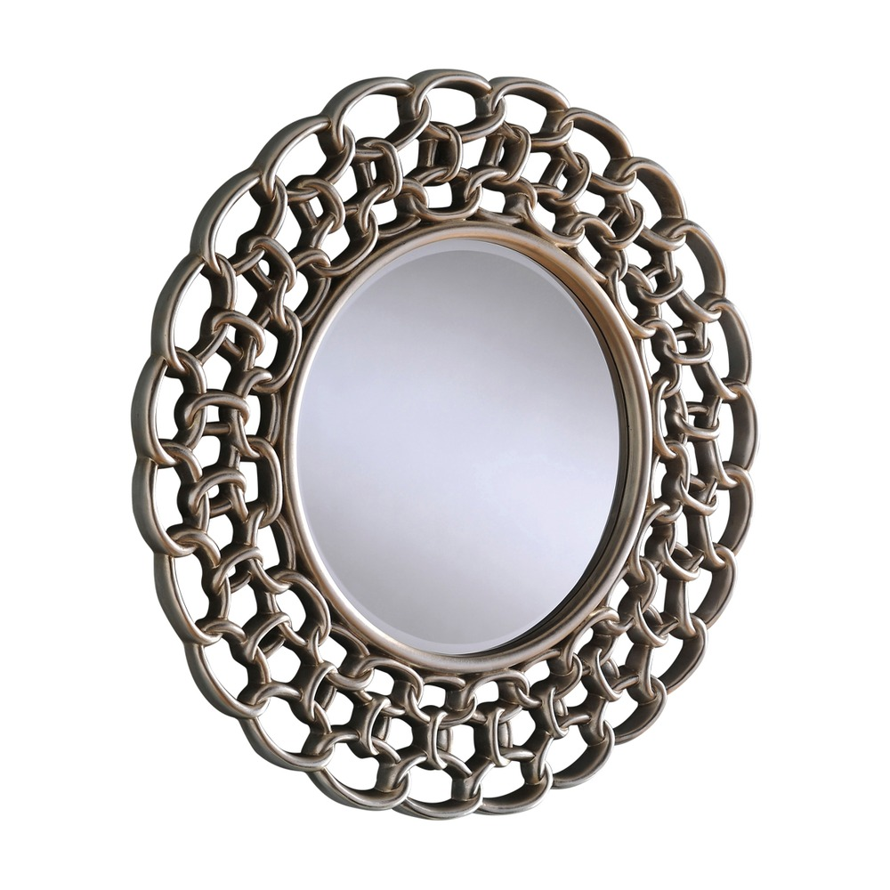Wall mirror salcombe silver round mirror select mirrors for Round mirror