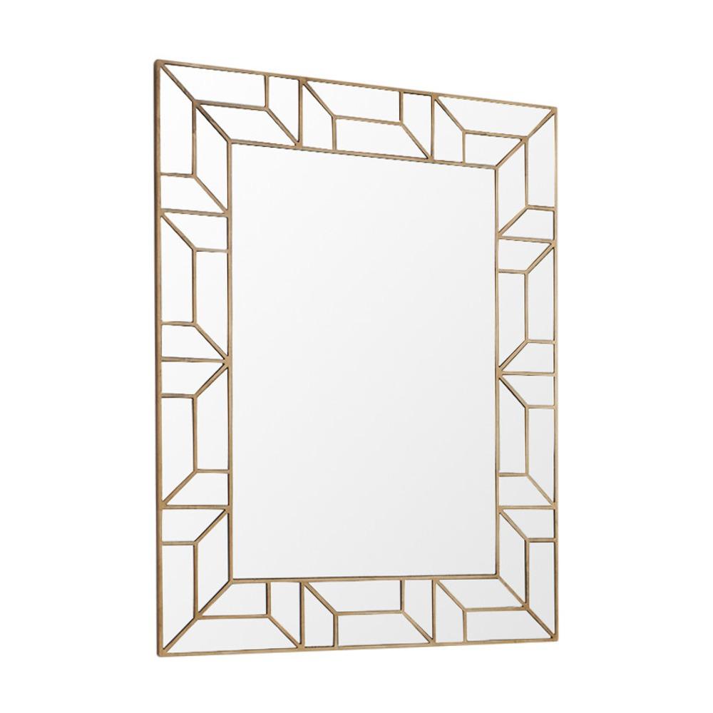 barcelona gold rectangle mirror howard elliott collection wa