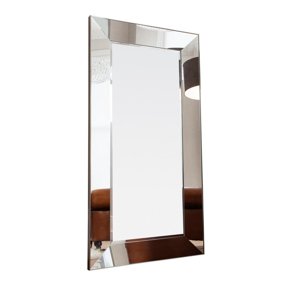 Leaner Mirror Vasto Mirrored Frame Mirror Silver