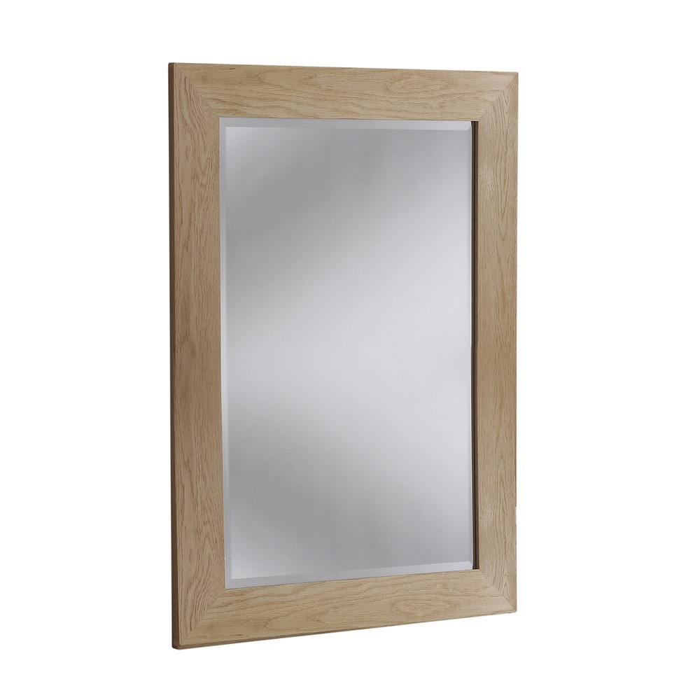 Wood mirror preston solid oak wall mirrors for Mirror o mirror