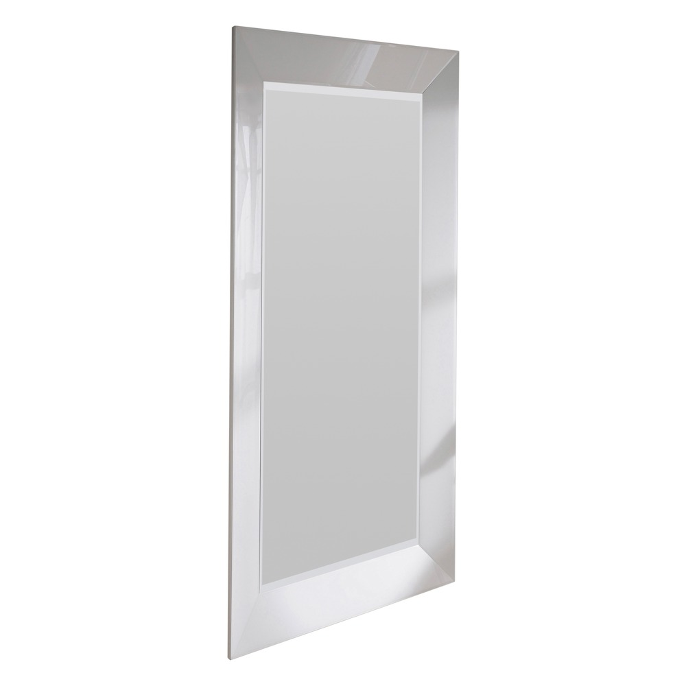 Large mirror mozia white bevelled wall mirror for Big white wall mirror