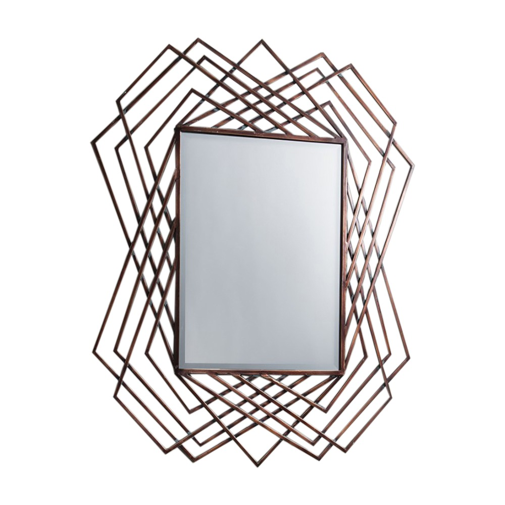 Mirror Specter Mirror With Burnished Copper