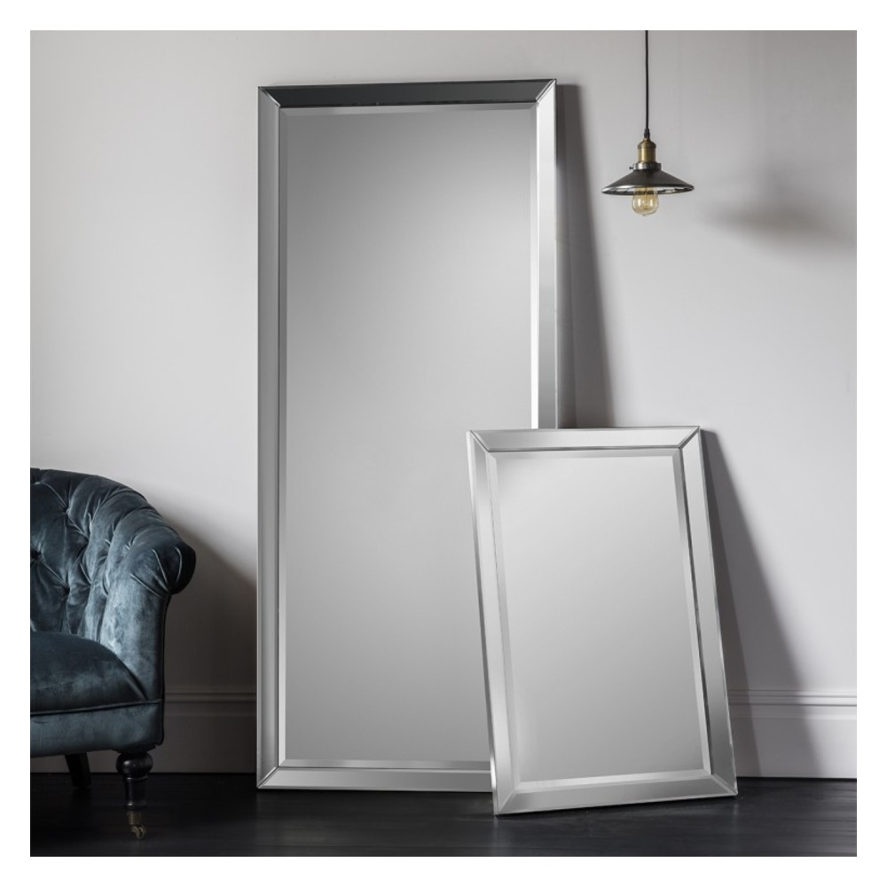 Full length mirror luna leaner rectangle mirror select for Leaner mirror