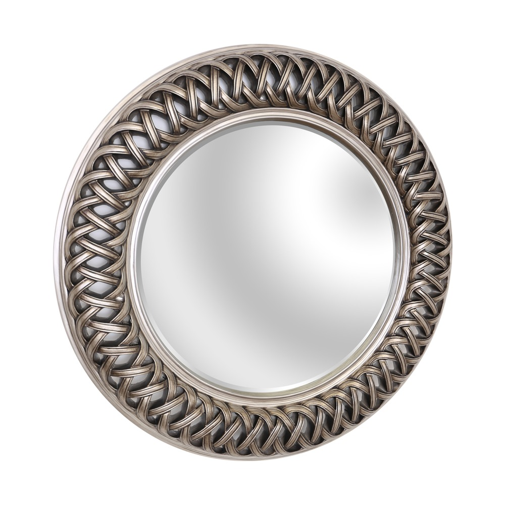 Buy venice silver large round mirror select mirrors for Round mirror