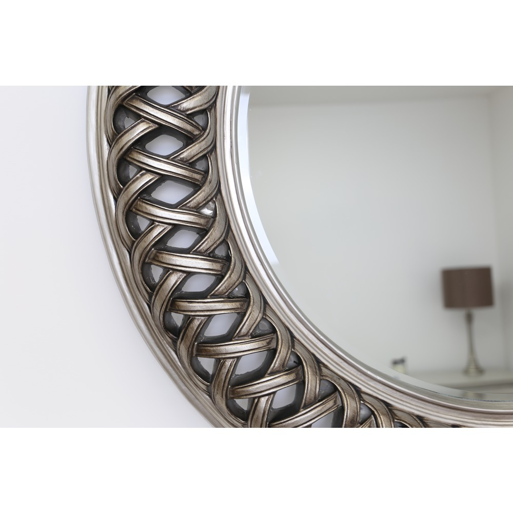 Buy Venice Silver Large Round Mirror Select Mirrors