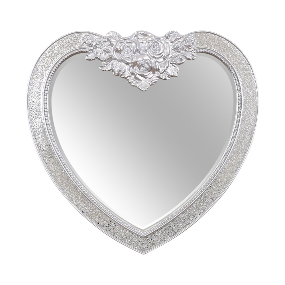 Buy Crackle Glass Heart Mirror Select Mirrors