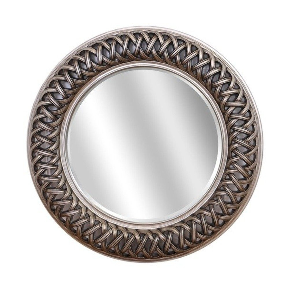 Buy venice silver large round mirror select mirrors for Circle mirror