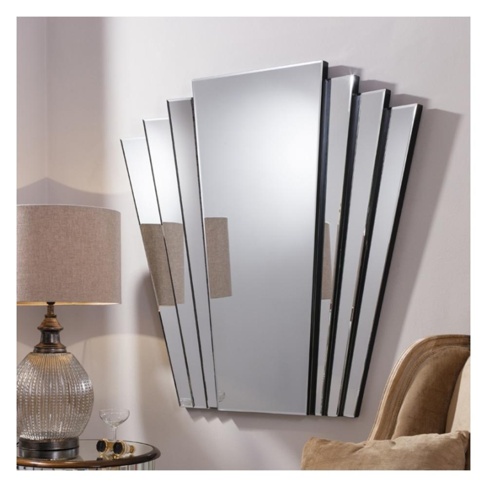 Art Deco Mirror: Gatsby Fan Tailed Wall Mirror