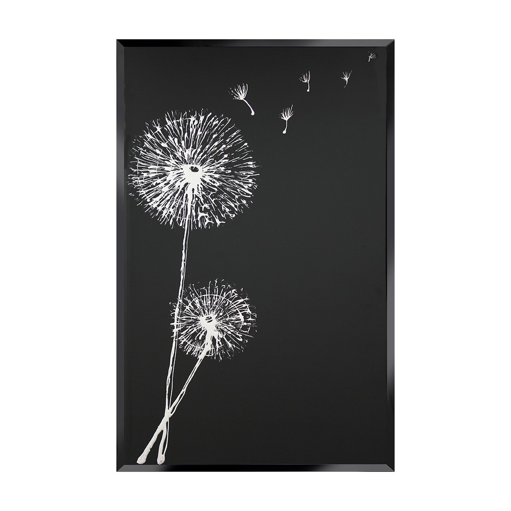 Buy White Dandelion On Black Select Mirrors