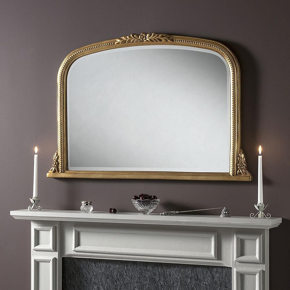 Large Mirror Dawson Ivory Overmantel Mirror Select Mirrors