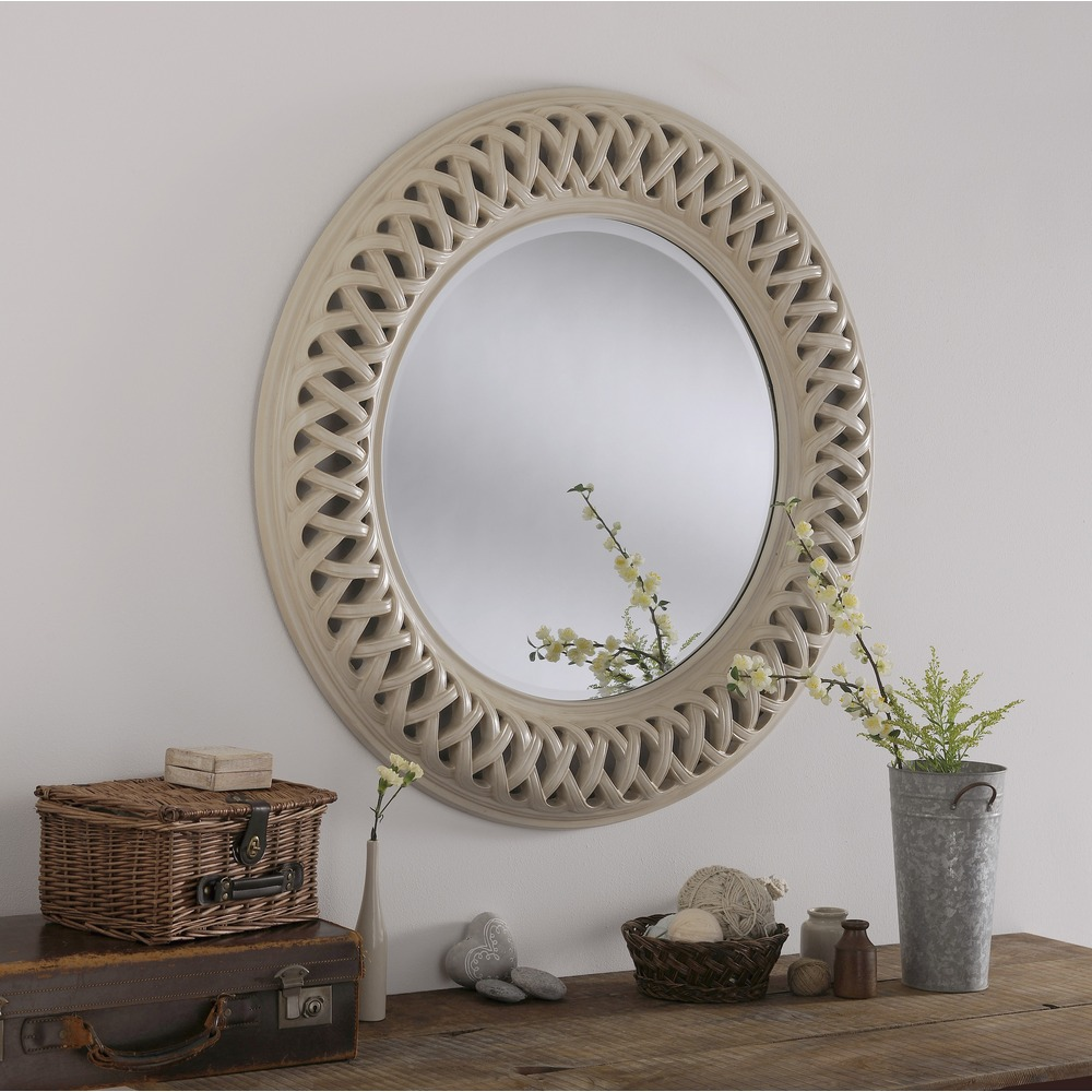 Wall mirror venice large round mirror select mirrors for Deco baroque