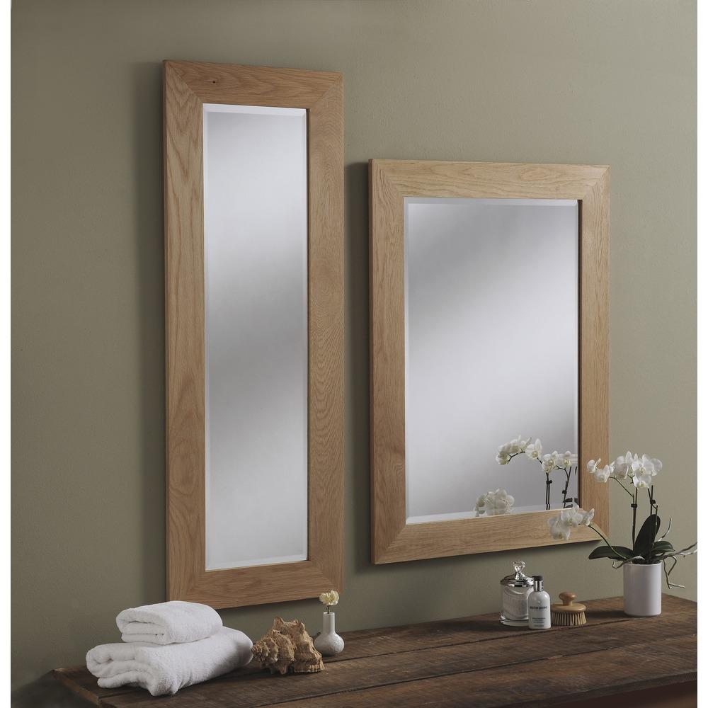 Wood mirror preston solid oak wall mirrors preston solid oak wall mirrors amipublicfo Choice Image
