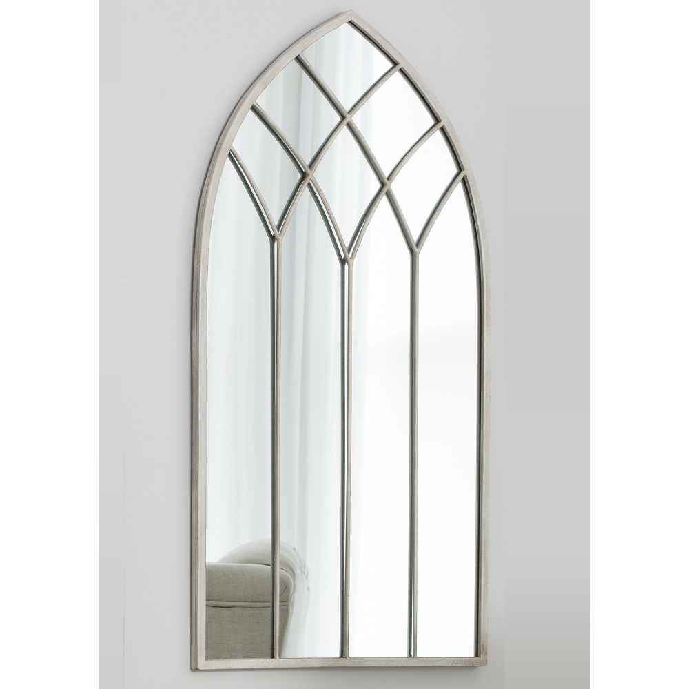 Window mirror roebuck arched window mirror select mirrors for Church style mirrors