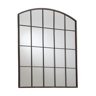 Rockford Radius Top Mirror Rustic Metal