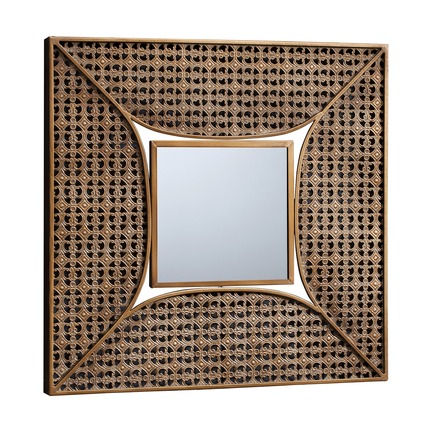 Aged Gold Square Mirror