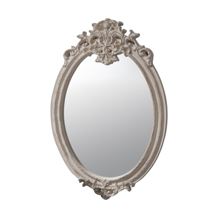 Valmont Vintage Cream Oval Mirror