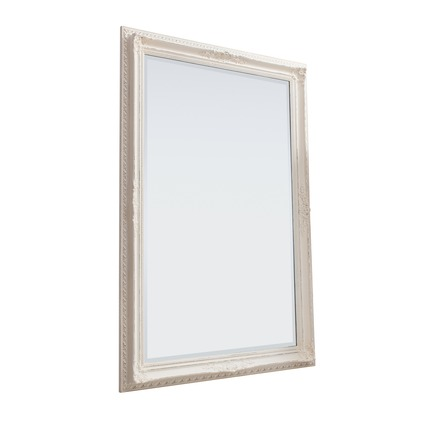 Buckingham Mirror Vintage White