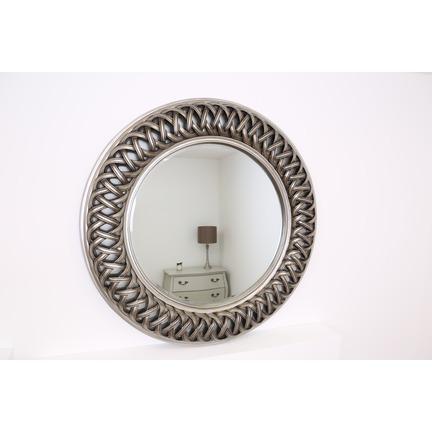 Venice Silver Round Mirror