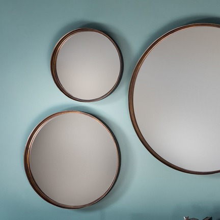 "Reading Round Mirror 12"" dia (4pk)"