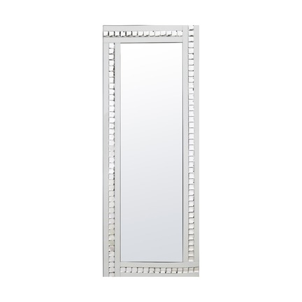 Alma White Crystal Leaner Mirror