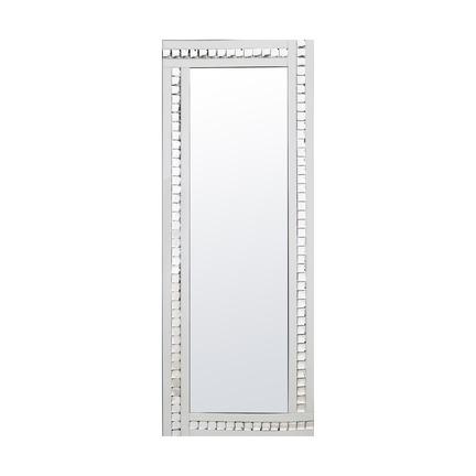 Alma White Crystal Leaner Mirror