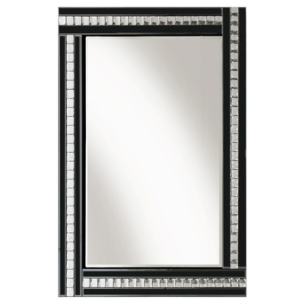 Alma Black Glass Mirror - 3 Sizes