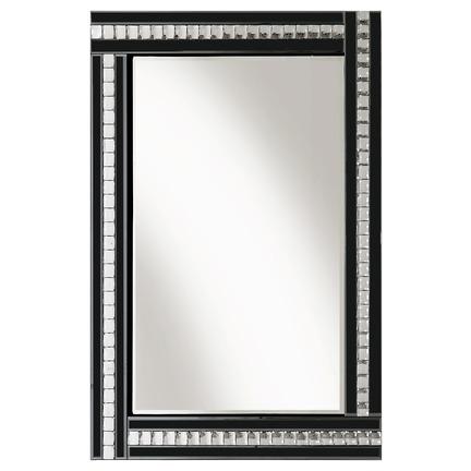 Alma Black Glass Mirror - 3 Sizes