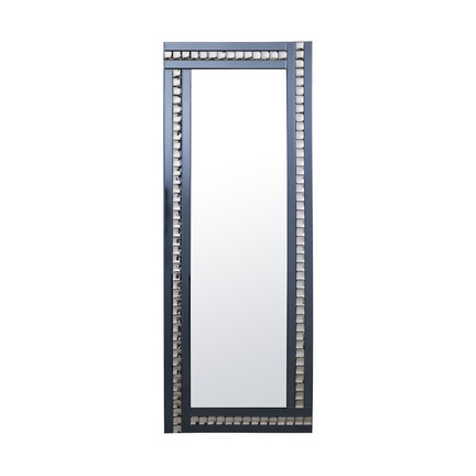 Alma Smoked Crystal Leaner Mirror