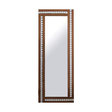 Alma Bronze Crystal Leaner Mirror