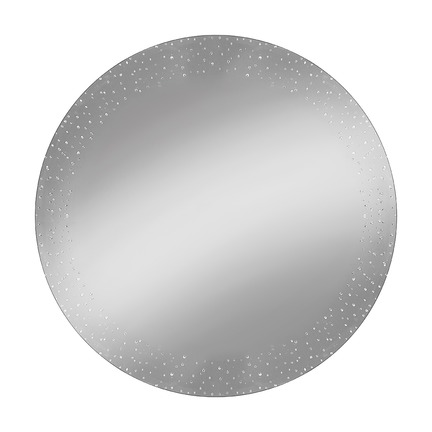 Abstract Border Mirror Round