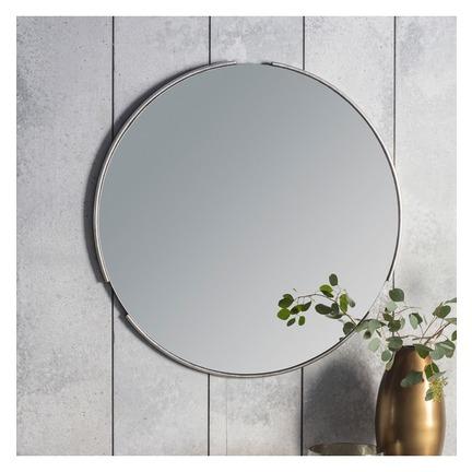 Fitzroy Round Mirror - Silver