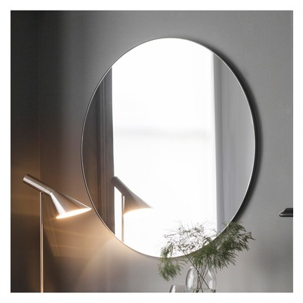 Hayle Round Mirror in Black