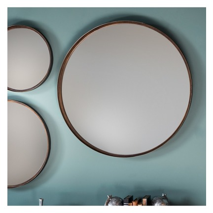 "Reading Round Mirror 24"" dia (2pk)"