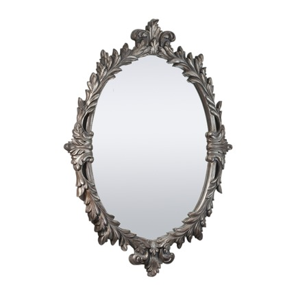 Marland Grand Silver Oval Mirror