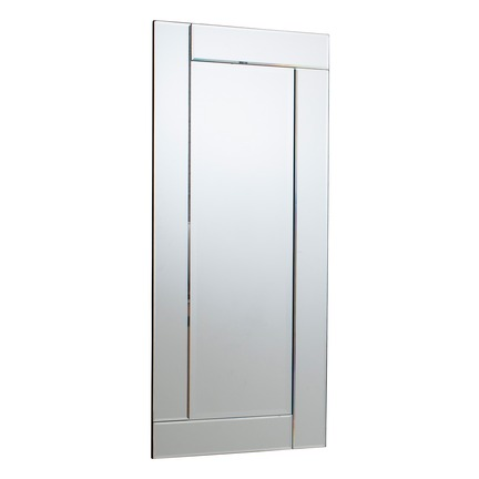 Appleford Rectangle Mirror Silver