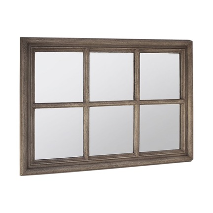 Crawford Window Weathered Mirror